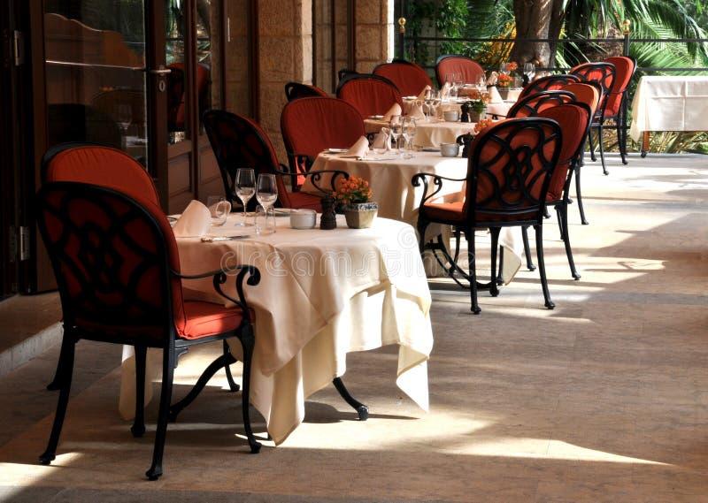 Terraza del restaurante imagen de archivo