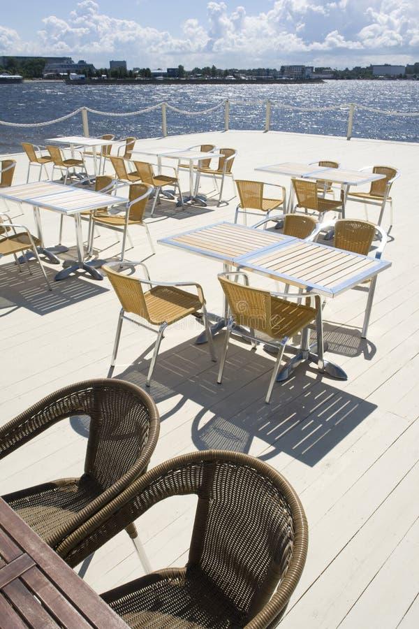Terraza del verano en café foto de archivo libre de regalías