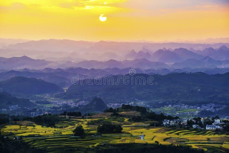 Terraza en China de Guizhou fotografía de archivo
