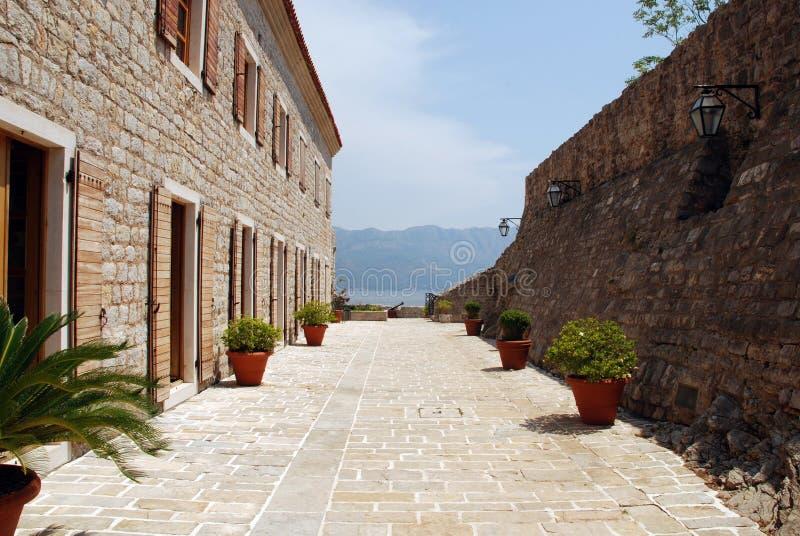 Terraza Italiana De Piedra Vieja Imagen De Archivo Imagen