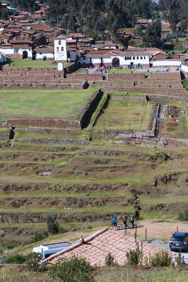 Terrazas del inca en Chinchero foto de archivo libre de regalías