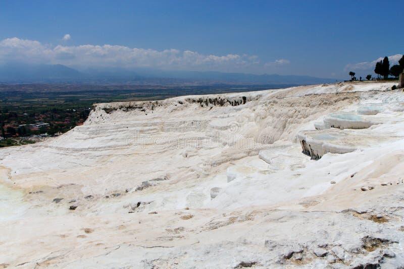 Terrazas del travertino de Pamukkale, Turquía imágenes de archivo libres de regalías