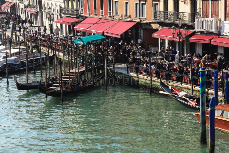 Terrazas En Venecia Imagen de archivo editorial