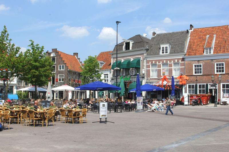 Terrazas escénicas en el Hof en Amersfoort, Países Bajos imágenes de archivo libres de regalías