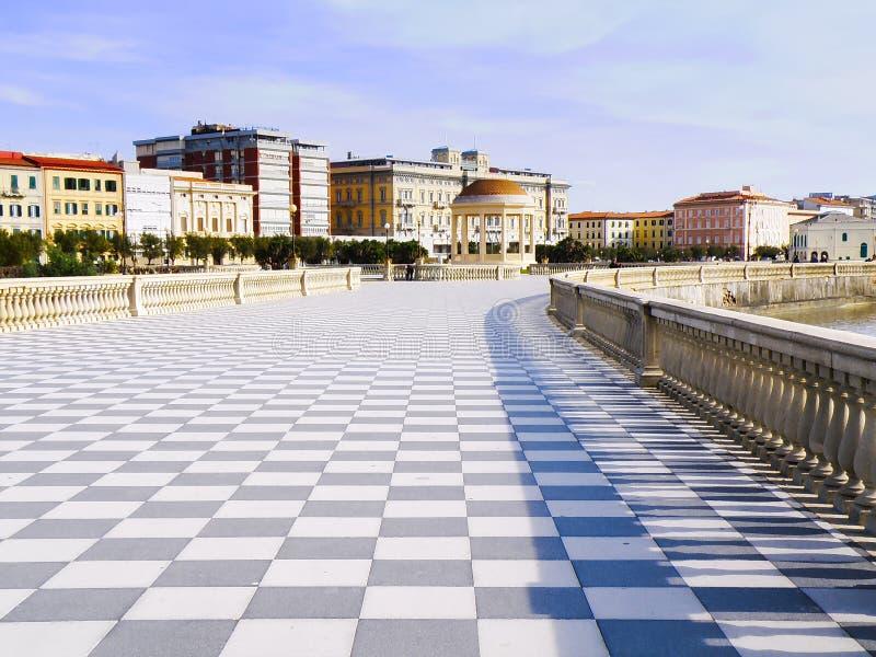 Terrazza Mascagni, legorne Livorno, Itália fotos de stock