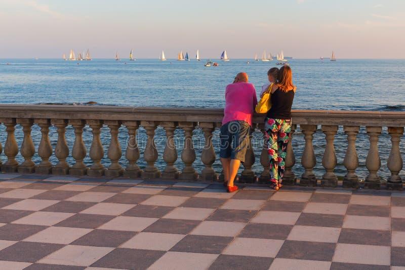 Terrazza Mascagni A Livorno, Italia Fotografia Editoriale - Immagine ...