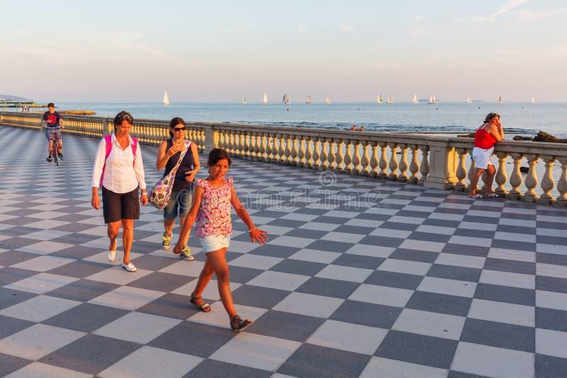 Terrazza Mascagni In Livorno, Italien Redaktionelles Foto - Bild von ...