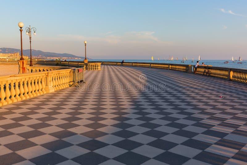Terrazza Mascagni In Livorno, Italy Editorial Stock Photo - Image of ...