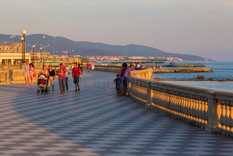 Terrazza Mascagni In Livorno, Italy Editorial Photography - Image of ...