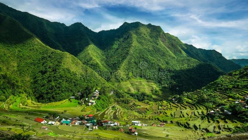 Terrazzi del riso Banaue, Filippine fotografia stock