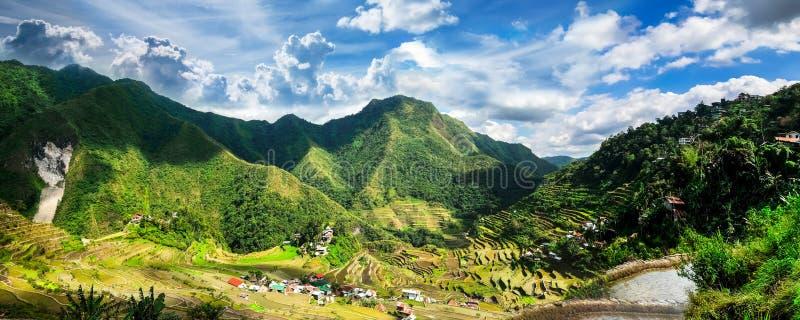 Terrazzi del riso Banaue, Filippine immagine stock libera da diritti