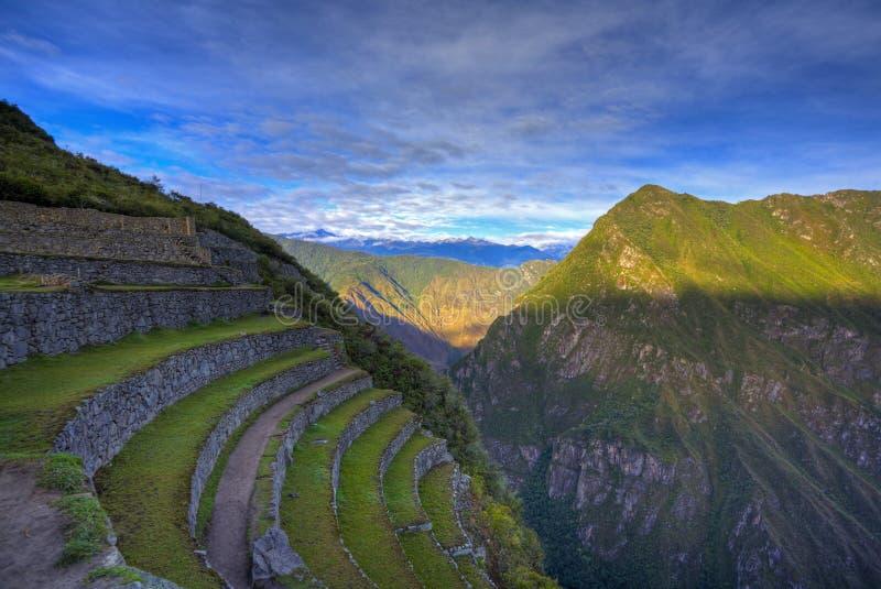 Terrazzi di Machu Picchu immagine stock libera da diritti