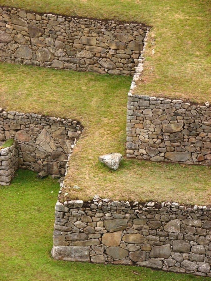 Terrazzi a Machu Picchu fotografia stock