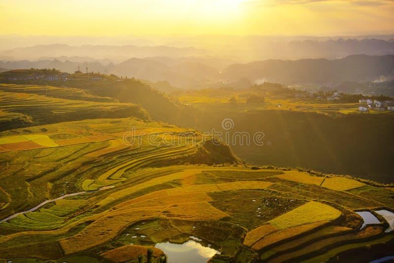 Terrazzo alla porcellana di Guizhou immagini stock
