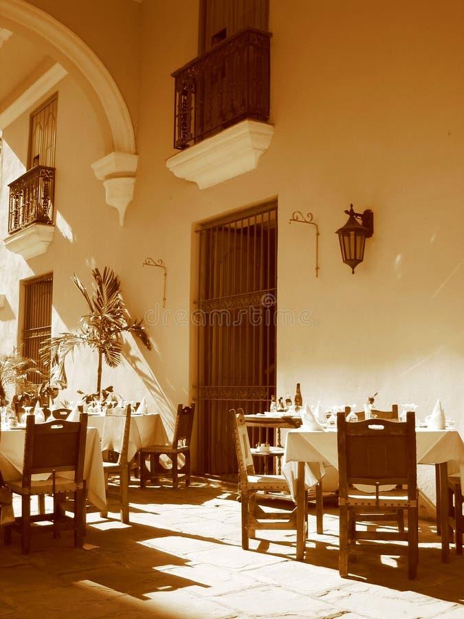 Terrazzo a Avana fotografia stock libera da diritti