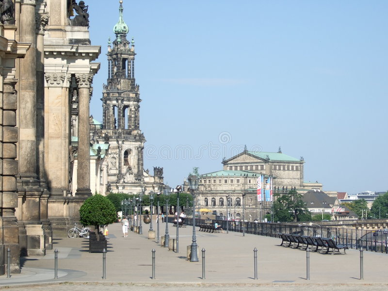 Terrazzo del Brühl, Dresda immagine stock libera da diritti