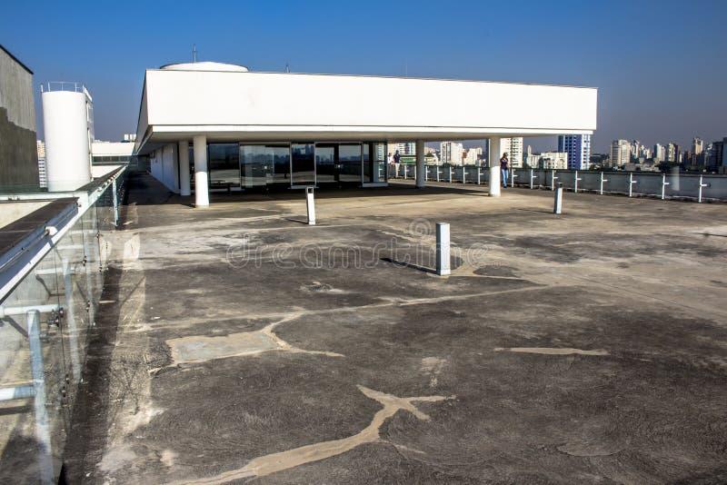 Terrazzo del museo di arte moderno fotografia stock libera da diritti