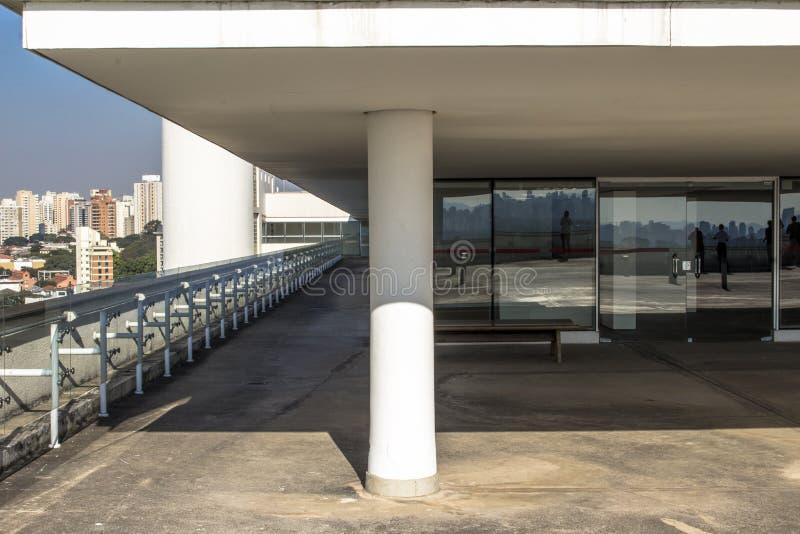 Terrazzo del museo di arte moderno fotografie stock