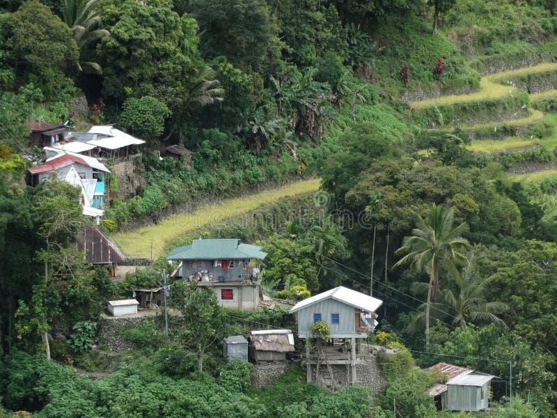 Terrazzo del riso di Batad in Banaue, Ifugao, Filippine immagini stock libere da diritti