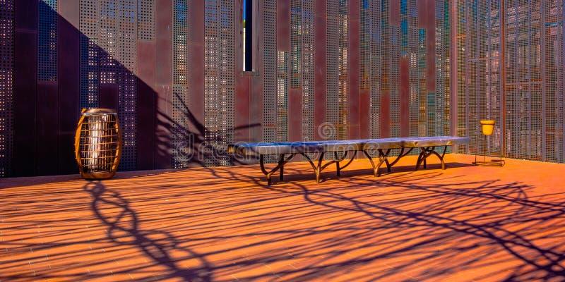 Terrazzo del tetto della Provenza fotografie stock libere da diritti