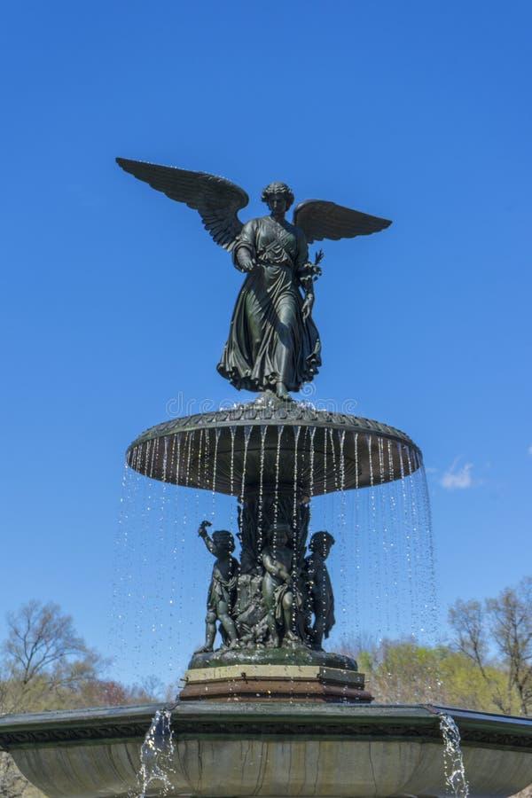 Terrazzo di Bethesda Arcade dalla fontana in Central Park in Manhattan immagine stock