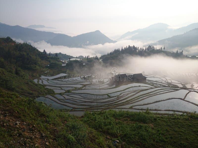 terrazzo di Guizhou fotografia stock libera da diritti