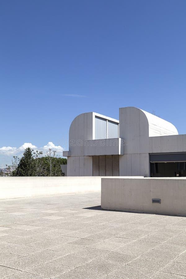 Terrazzo di Joan Miro Foundation di costruzione, Barcellona, Spagna fotografia stock libera da diritti