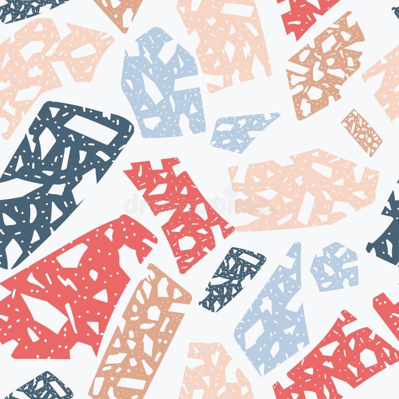 Terrazzo floor or marble abstract texture seamless pattern vector illustration . stock illustration