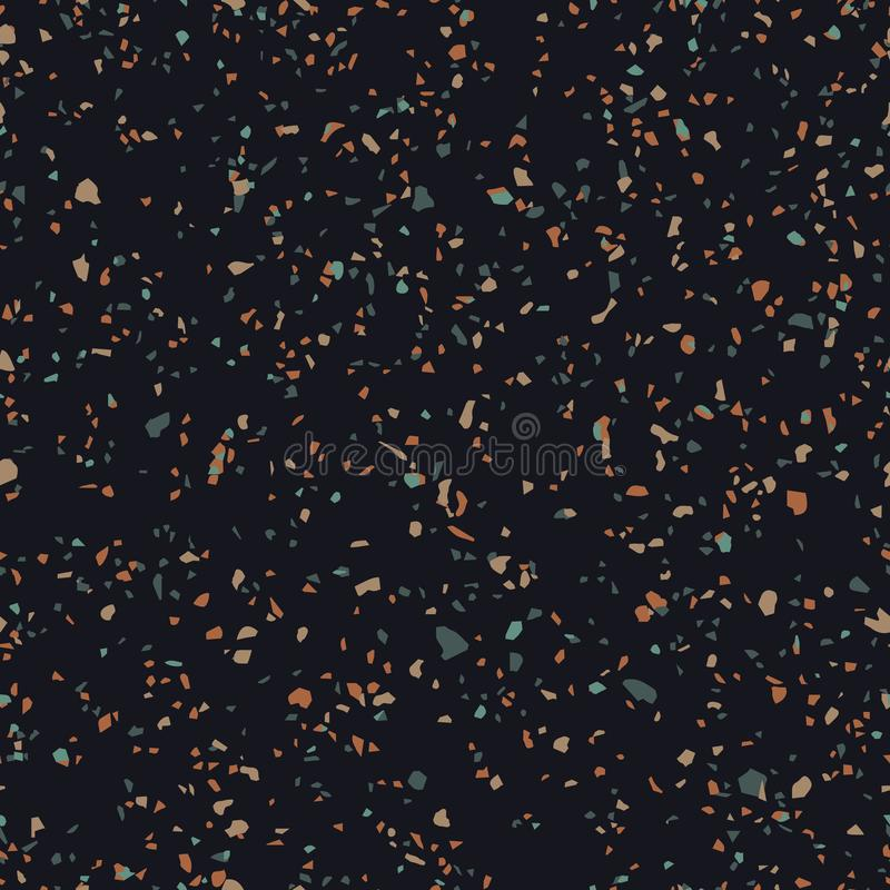 Terrazzo Flooring Texture Vector Seamless Pattern Of