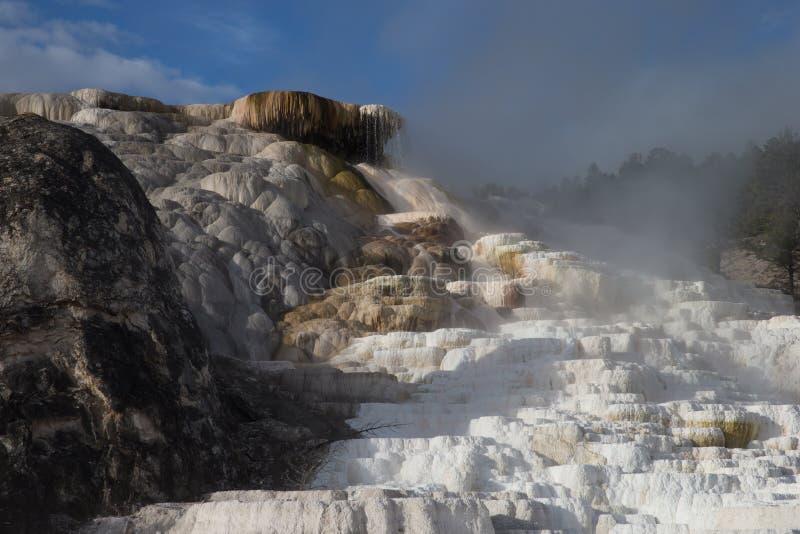 Terrazzo mastodontico della sorgente di acqua calda fotografie stock