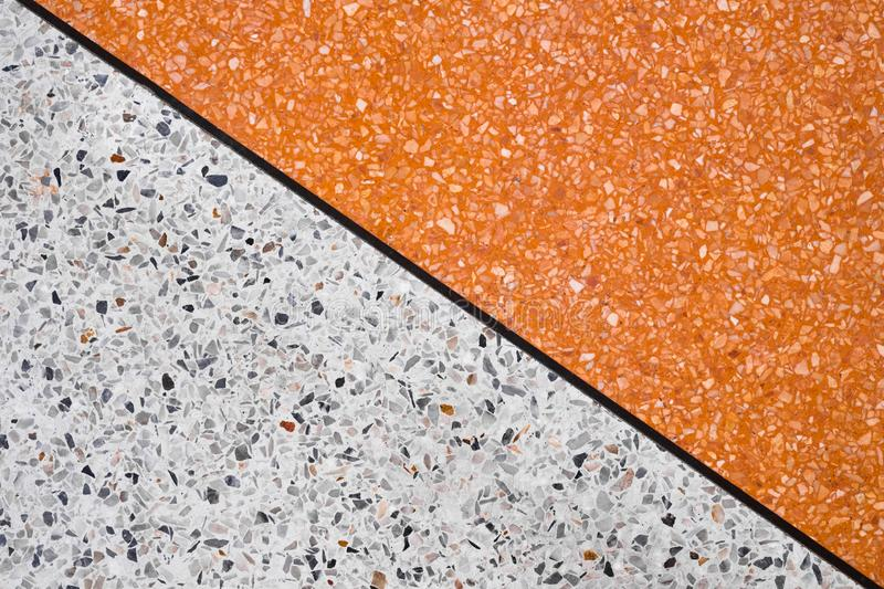Terrazzo polished stone floor and wall pattern and color surface. Marble and granite stone, material for decoration background texture, interior design stock image