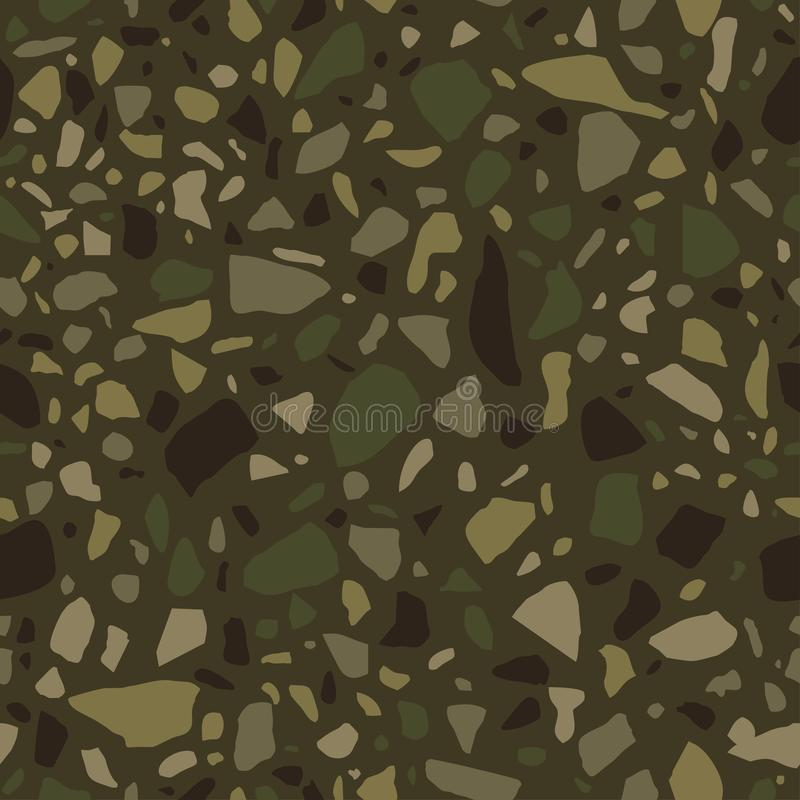 Terrazzo seamless pattern. Tile with pebbles and stone. Abstract texture background for wrapping paper, wallpaper, terrazzo floori stock illustration