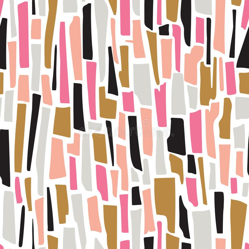 Terrazzo striped seamless pattern. Vector abstract background. stock illustration