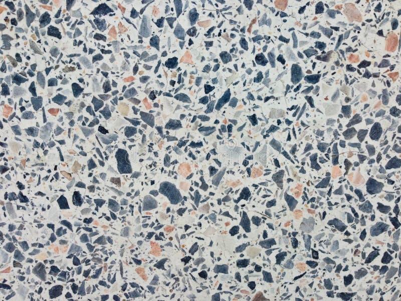 Terrazzobodenbeschaffenheit, Poliersteinmusterwand und Farboberflächenmarmor für Hintergrund lizenzfreie stockfotografie
