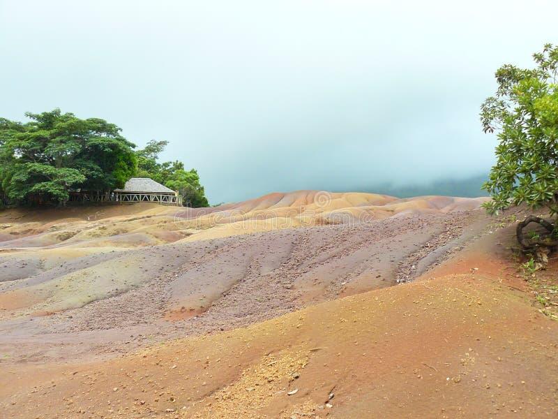 Terre Îles Maurice de sept couleurs photographie stock libre de droits