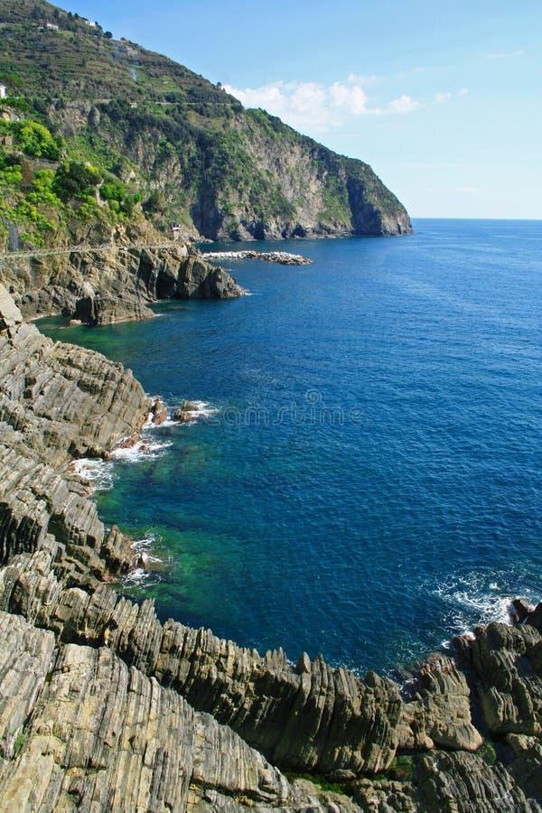 terre Италии береговой линии cinque стоковые изображения