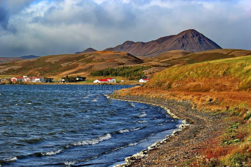 Terre colorée autour de lac Myvatn, Islande photo stock