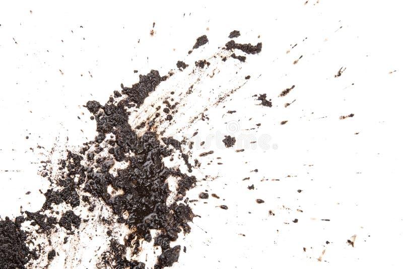 Terre de texture à l'arrière-plan blanc photo libre de droits