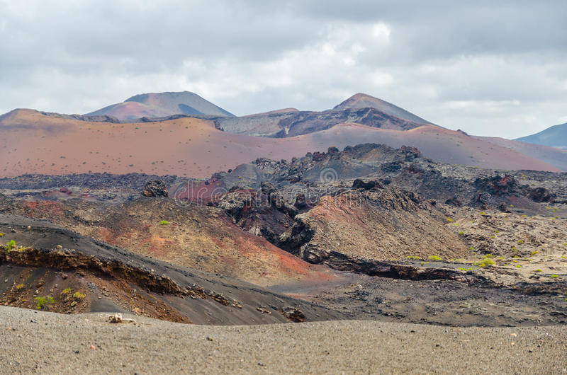 Terre des volcans photographie stock libre de droits