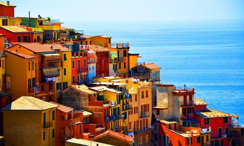 Terre di Cinque vicino a La Spezia fotografie stock