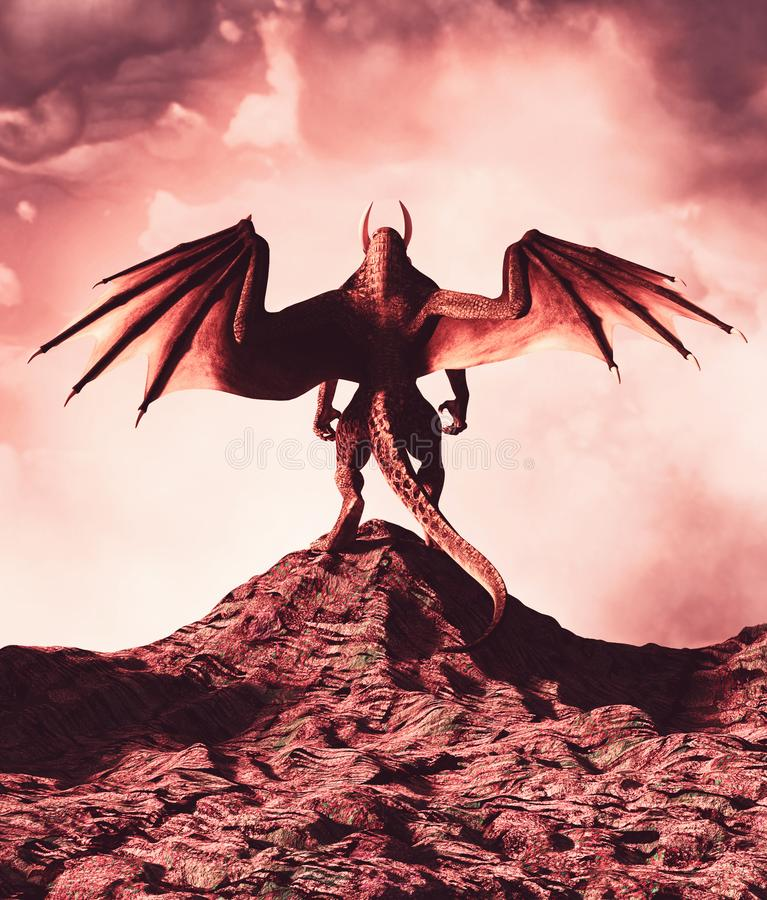 Terre du dragon illustration stock