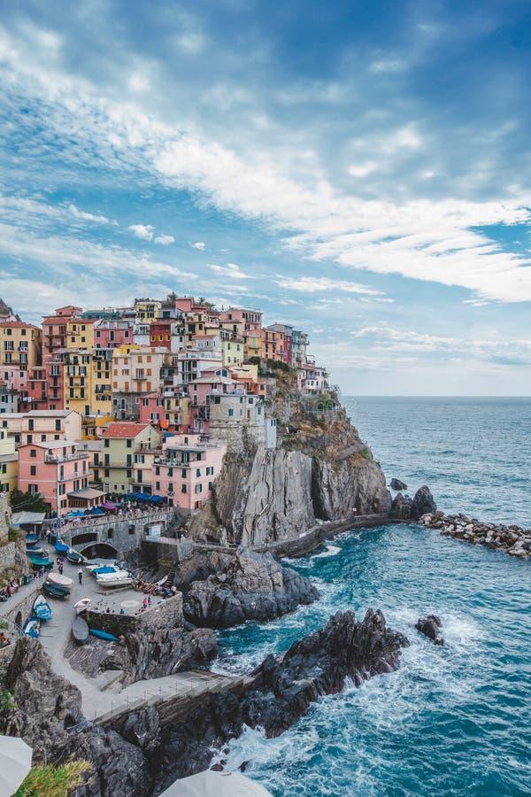 terre manarola Италии cinque стоковые фотографии rf