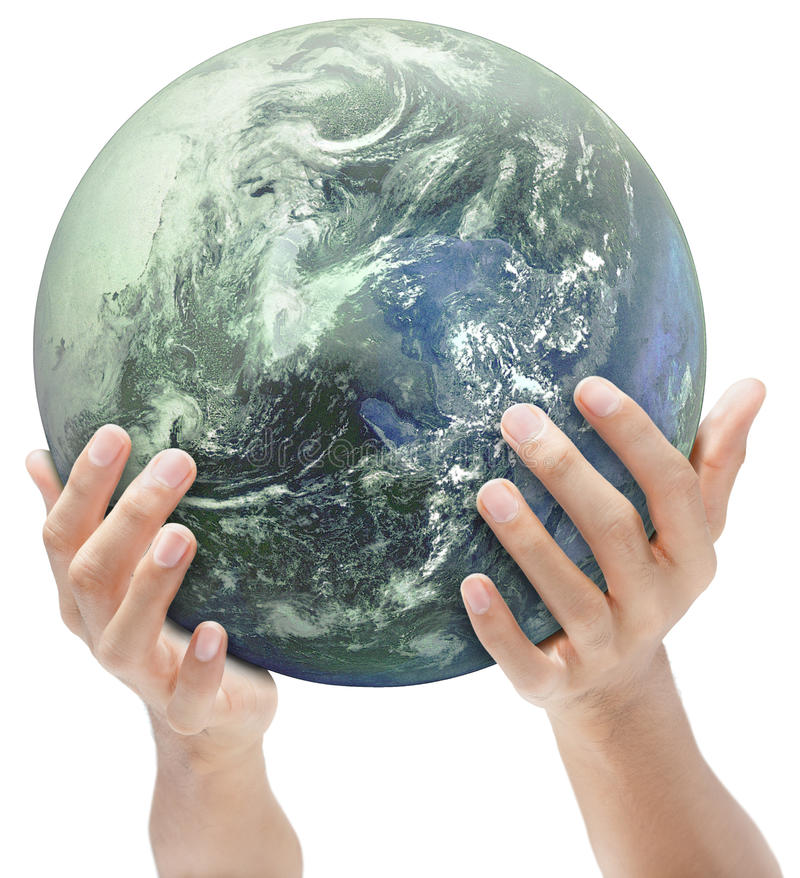 Terre offerte à la main photos stock