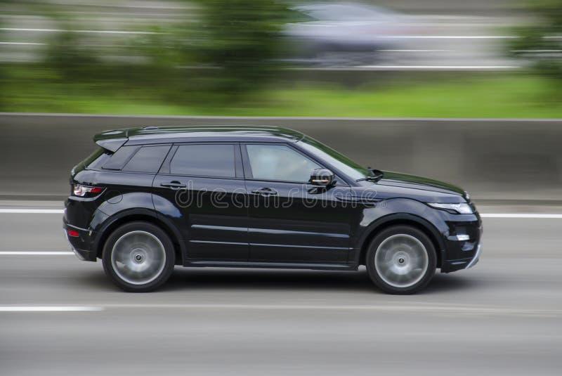 Terre Rover Range Evoque d'Anvers, Belgique le 7 août 2016 sur la route AOÛT, 7 Anvers, Belguim images stock
