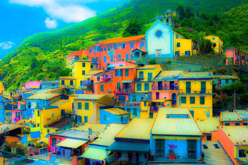 5 Terre Vernazza, Ligurie Italie images stock