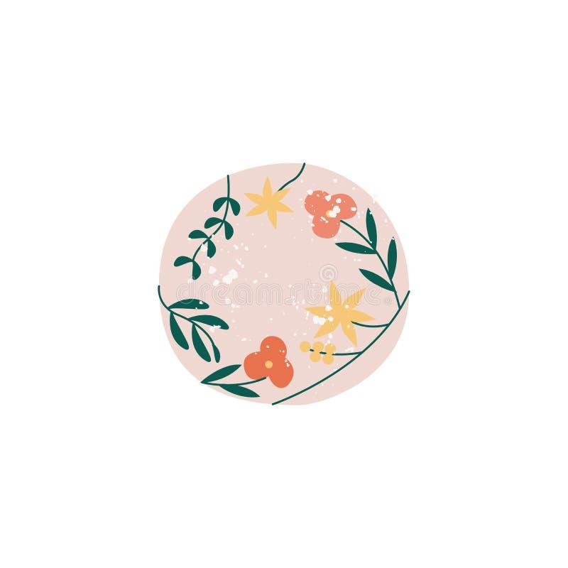 Terrecotte ceramiche con l'illustrazione piana di vettore dei fiori isolata su fondo royalty illustrazione gratis