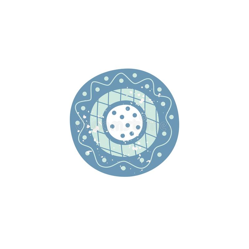 Terrecotte ceramiche con l'illustrazione piana di vettore del modello isolata su fondo illustrazione vettoriale