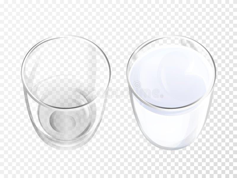Terrecotte realistiche dell'illustrazione di vettore di vetro di latte illustrazione vettoriale