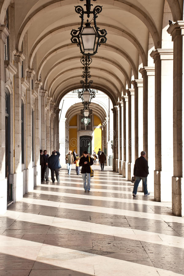 Terreiro robi Paco handlu kwadratowi Lisbon obrazy stock