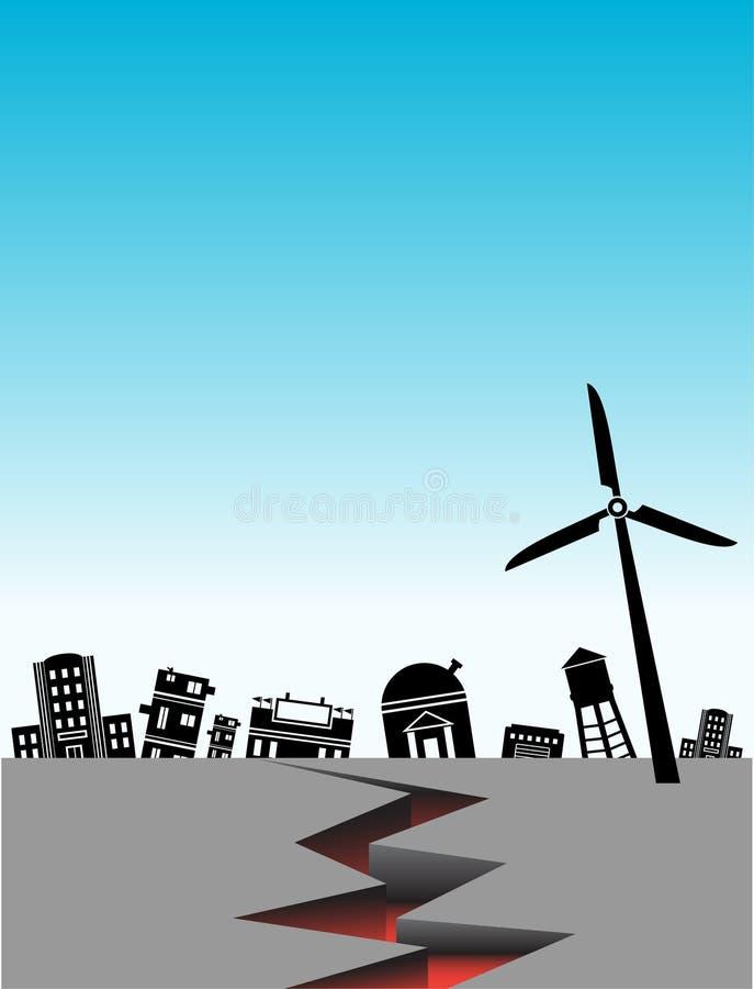 Terremoto stock de ilustración